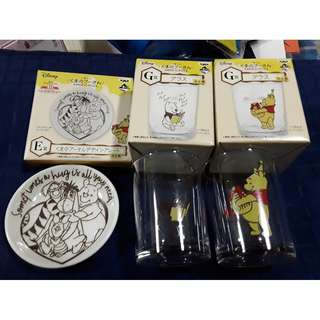 Winnie the Pooh 40th anniversary lucky draw glass and plate