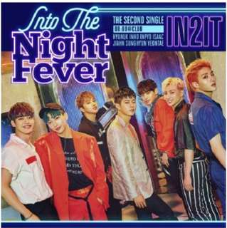 [Preorder] IN2IT 2nd Single Album - Into The Night Fever CD + Poster