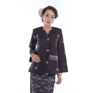 Kalsom Songket (Dark Purple)