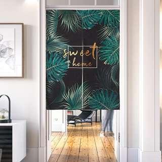 Sweet Home Tropical Leaf Door Curtain