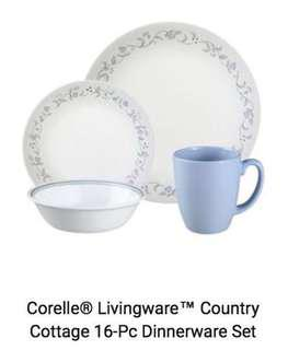 New Corelle Country Cottage 16 pcs murah!!