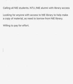Jobs for NIE /NTU students