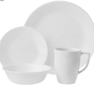 New Corelle Frost white 16 pcs murah!!