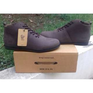 "Brodo  ''""Signore EZ Dark Choco Black Sole''"" Size 43"