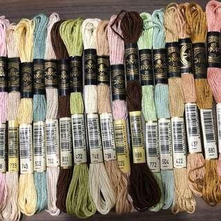 Used DMC embroidery thread