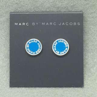 Marc Jacobs Sample Earrings 天藍色配銀色耳環 耳環表面藍色部份不平
