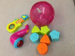 寶寶聲光樂器玩具+益智球
