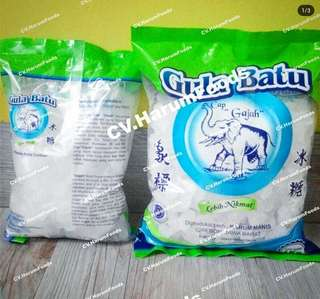 Kristal besar 500gr gula batu Cap Gajah CV. Harum Foods
