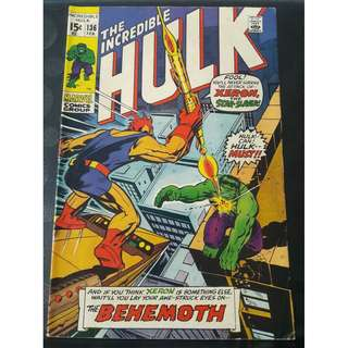 Incredible Hulk #136 (1st app: Klaatu, & Xeron the Star‐Slayer)