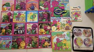 Barney story books, CDs and DVDs