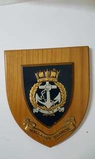 皇家海軍浮雕木盾