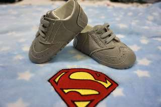 Grey Baby Dance Shoes