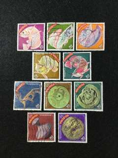 2000 Year Of The Dragon 10 Values Used Set
