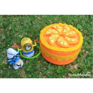 Cake Crafts Orange Cake (Kerajinan Tangan) by @craftthecakes.id