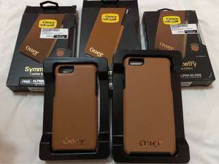 Limited Edition OtterBox Symmetry Leather Edition for Iphone 6/6s and 6+/6s+ (TAN/GOLD)