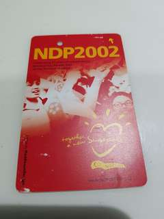 SMRT special collectible transitlink card NDP 2002
