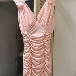 🚚 粉色party洋装#女裝半價拉