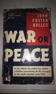 war or peace vintage book