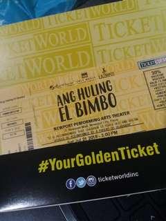 RUSH SELLING! Ang Huling el Bimbo Bronze tickets