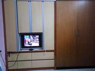 Lemari pakaian, lemari dapur, kitchen set, backdrop tv DLL