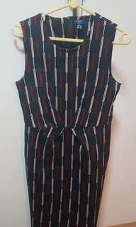 Yacht 21 office dress with stripes