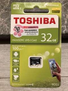 Toshiba 32GB 記憶卡 sd card