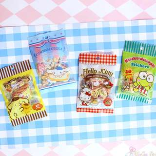 Sanrio - Pompompurin, Hello Kitty, Cinnamoroll sticker ~ 20 pieces