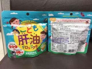 Unimat  兒童ABCD肝油水果軟糖(香蕉味)