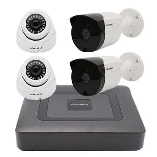 CCTV 4CH PACKAGE-Full-HD 4CH Digital Video Recorder(DVR) + 2.0MP Full-HD SONY 1080P Dome/Bullet(indoor/outdoor) Smart IR Camera