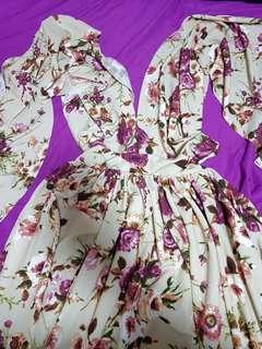 Floral Full ball gown Skirt dress size L-XL