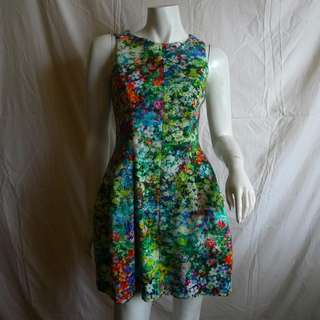 ZARA FLORAL TULIP DRESS IN XS (US 2 FITS UP TO SMALL US 4) CELEBRITY DRESS, RARE & COLLECTIBLE!