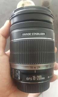 lensa canon 18 200 is