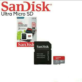 Memory Card SanDisk Ultra Micro SDHC UHS-I Class 10 32GB