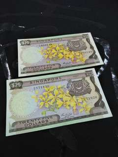 Old sg $25 notes 2pc offer $238