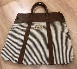 Ralph Lauren Vintage Cotton/Leather Tote