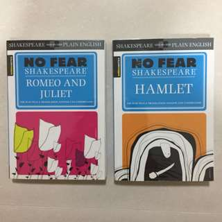 (2 for $18) Shakespeare Romeo and Julet and Hamlet Book Play
