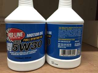 Redline Motor Oil full synthetic 5W30 全合成機油