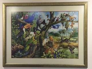 Framed animal kingdom puzzle