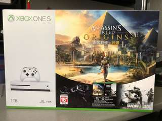 Brand new Xbox One S 1TB console with Assassin's Creed Origins
