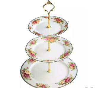 Three Layer Snack Tray/ Cake Tray/ Fruit Tray