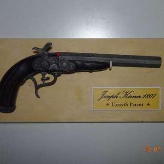 Old Handgun Wall Hanger/ Display