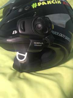 Sena SMH5FM Bluetooth Intercom w EVO Helmet