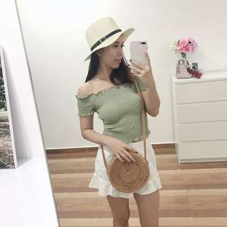 Hat and top for selling