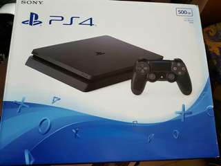 PS4 Slim 1TB with 2 free games, bag & stand
