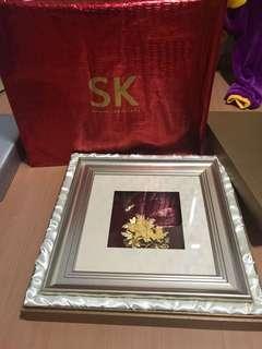 Gold flower SK jewellery portrait