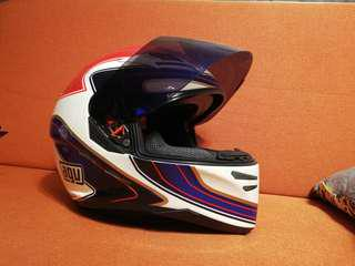 AGV helmet with sun visor