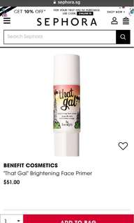 🚚 FLASH SALE BN BENEFIT THAT GAL PRIMER
