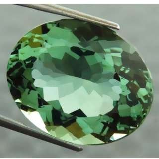 🚚 20.42 cts Green Amethyst Oval Lab Created 16.6 x 20.1 mm