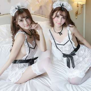 *FREE SHIPPING*READY STOCK* Sexy Lingerie Sleepwear Maid Costume Cosplay Dress