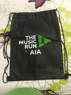 Music Run Drawstring Bag